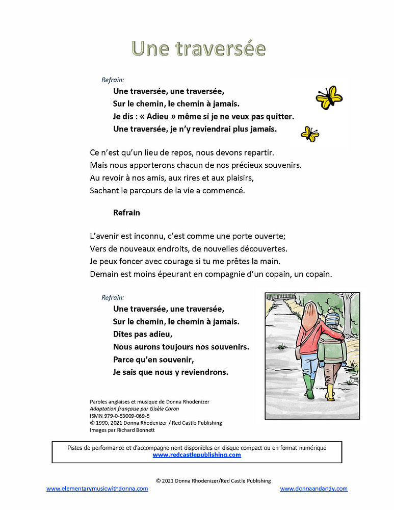 Une traversee - Lyrics - French