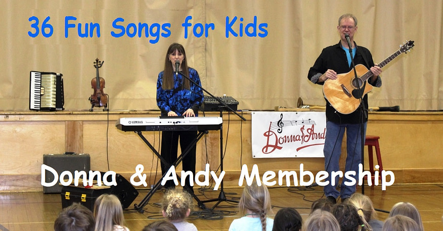 36 Fun Songs for Kids - Donna & Andy Membership
