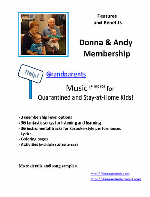 Donna & Andy Membership - Grandparents - Features and Benefits