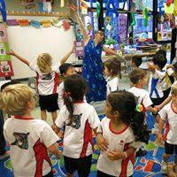 Donna Rhodenizer with students