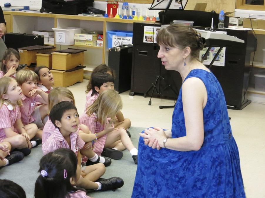 Donna Rhodenizer - teaching elementary music in Hong Kong