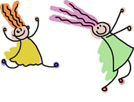 2 kids happy dancing