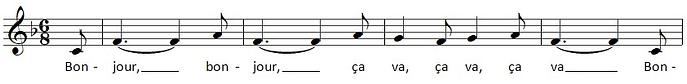 Bonjour Bonjour - music snippet