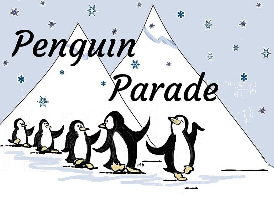 Penguin Parade - original artwork by Richard Bennett
