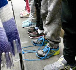 Student Feet on Risers