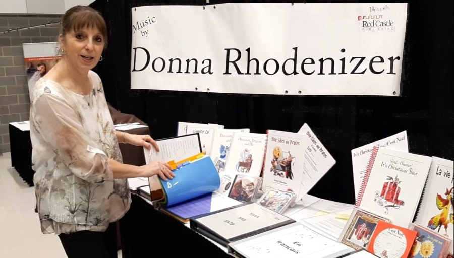 Donna Rhodenizer - Composer - NSMEA trade-show booth